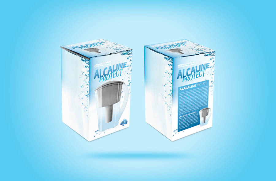 <strong>Alcaline Protect · </strong><span>Logotype, packaging : création et réalisation graphique / © Client : Alcaline Protect</span>